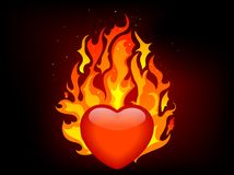 Blazing heart Stock Photography