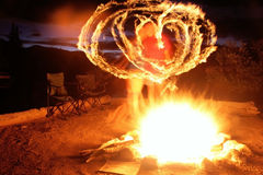 Blazing heart Stock Photos