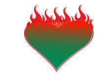 Blazing heart Stock Photo