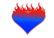 Blazing heart Royalty Free Stock Photos