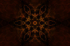 Blazing occult symbol Stock Photo