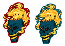 Blazing skulls characters Royalty Free Stock Images
