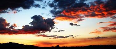 Blazing Sky. A blazing Arizona sky at sunset royalty free stock photo