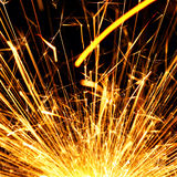 Blazing sparks Royalty Free Stock Photography