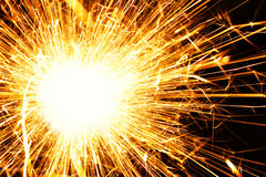 Blazing sparks Stock Images