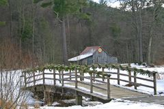 Blazing Star Quilt Barn & Bridge Stock Photography