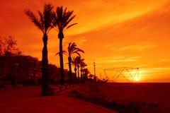 Blazing summer resort sunrise Stock Photography