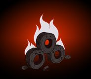 Blazing Tires Royalty Free Stock Photography