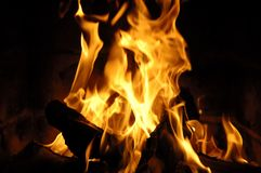 Blazing tongues of flame Stock Photo