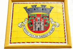 Blazon of Castelo de Vide , Portugal. Stock Photo
