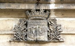 Blazon of the city of Paris (France Royalty Free Stock Images
