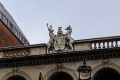 Blazon on a facade of a house, London Stock Image