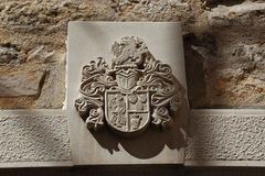 Blazon on the front of the tower, Croatia Royalty Free Stock Photography
