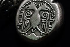 Blazon Stone With Two Headed Eagle. A blazon stone with two headed eagle and with historic qualities and symbolism Royalty Free Stock Photography