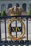 Blazon on the Swedish Royal Palace. Stock Photography