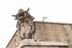 Blazon on wall of Vatican Stock Photography
