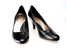 Blcak dress shoes stock photo