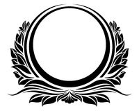 Blck vintage circle frame vector illustration