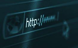 bläddra internet Arkivfoton