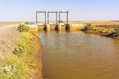 Ble Nile river canal. Stock Images