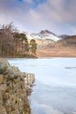 blea地区英国湖小湖 免版税库存照片
