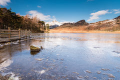 Blea Tarn frozen Royalty Free Stock Photography