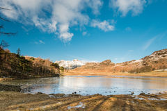 Blea Tarn with snow covered Side Pike Royalty Free Stock Photo