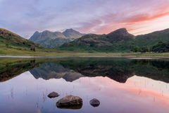 Blea Tarn Sunrise With Reflections. royalty free stock photos