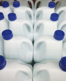 Bleach white bottles Royalty Free Stock Photos
