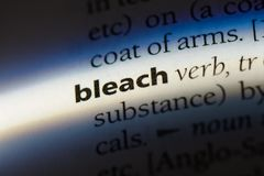 Bleach. Word in a dictionary.  concept stock photos