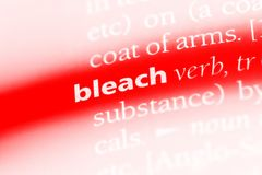 Bleach. Word in a dictionary.  concept stock images