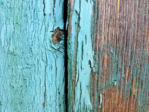 Bleached blue painted wood. Urban decay objects, abstracts and background royalty free stock photography