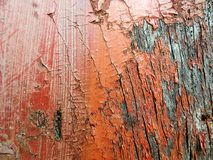 Bleached red painted wooden plank. Urban decay old wood backgrounds stock photos