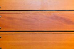 Bleacher-Holz von einer Turnhalle Stockbild
