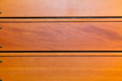 Bleacher Hout van een Gymnasium Stock Afbeelding