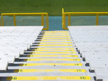 Bleacher stairs Stock Photo