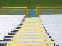 Bleacher stairs Stock Photo
