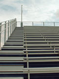 Bleachers. Empty bleachers in a stadium stock image