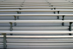 Bleachers. In a stadium or school for the fans Stock Photography