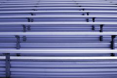 Bleachers. In a statium or school for the fans Royalty Free Stock Photos