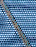 Bleachers azuis Fotografia de Stock Royalty Free