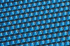 Bleachers azuis Foto de Stock