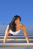 Bleachers Pushup Royalty Free Stock Photos