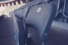 Bleachers in stadium Stock Photography