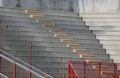 Bleachers of the stands of the stadium of baseball before the ga Royalty Free Stock Image