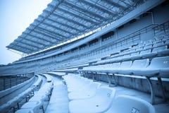 Bleachers van het stadion Stock Foto's