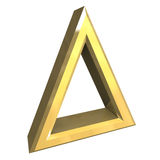 Bleaching allowed symbol in gold - 3D Stock Photos