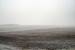 Bleak fields mid winter Stock Images