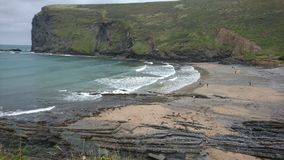 Bleak rocky Cornwall cove royalty free stock image