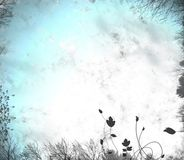 Bleak winter background. Blue and white wintry grunge background royalty free stock photo